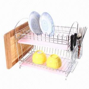 Bacia de arroz Multifunction/cremalheira de placa Prato-mais seca da cozinha com suporte da secadora de roupa, para a lixívia dos utensílios de mesa