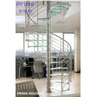 Buy cheap Glass Spiral Staircase / Stainless Steel Railing Spiral Stair product