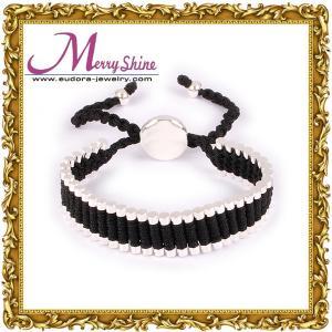 Buy cheap Masculino/hembra liga las pulseras de la amistad del cobre a la galjanoplastia de plata gruesa - LS051 product