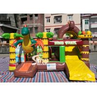 Buy cheap Dinosaur Park Inflatable Bounce Slide Combo Jumping Castle With Slide For Inflatable Games product