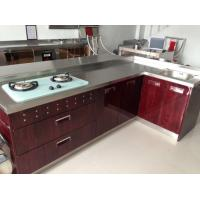 Stainless steel modern modular assembled kitchen cabinet for Stainless steel modular kitchen designs