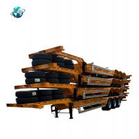 Buy cheap 3 axle 20ft and 40ft shipping container   Skeleton chassis  turck Semi Trailer product