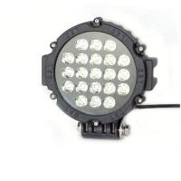 China 63W 7 Inch Led Driving Lights For Cars Flood /Spot Black Red Yellow Driving Led Work Lights on sale