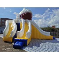 Buy cheap Giant Shark Commercial Inflatable Water Slides / Triple Lanes Adults Water Slide product
