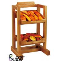 Buy cheap 2 Tiers Wooden Bread Buffet Display Stands For Hotel Buffet  / Bread Shop from wholesalers