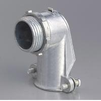 Buy cheap 90 Degree Metal Zinc Flexible Conduit And Fittings Squeeze Angle Connectors product