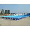 Piscines résistantes UV de cadre en métal/au-dessus de la piscine moulue avec le PVC fort