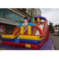 China PVC Inflatable Bounce And Slide Multi Lanes Clown Type Cultivated Stitching Workmanship on sale