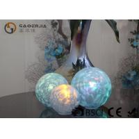 Buy cheap Set Of 3 Glass Ball Lights Surface With Ice Like Finish OEM / ODM Available product