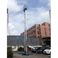 Quality 14 Meter Aluminum Alloy Aerial Work Platform Blue Color For Window Cleaning for sale