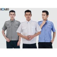 China Durable Police And Security Guard Uniform Mens Shirts With Two Pockets on sale