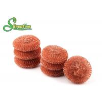 Buy cheap 100 Percents Steel Wire Copper Scouring Pads For Pot / Pan / Dish Cleaning product