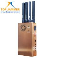 4 Stout Ant. GSM 3G Wifi GPS Cellphone Jammer Blocker,Golden/Fan/DIP/Leather Case/Car Char