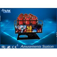 Buy cheap Truck Mobile Electronic 5D Movie Theater Simulator 2 Epson Projectors 6 Seats product