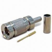 Quality Coaxial Connector in 1.0/2.3 Type, Plug Crimp for RG174 for sale