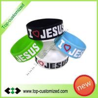 2012 Fashionable one inch silicone wristband for promotion