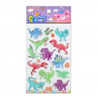 Buy cheap Boys Toy Dinosaurs Fight Foil Stickers Custom Size Design Low Cost For Promotional Gift product