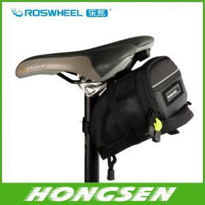China Free shipping Bicycle bike Bag Saddle Back Seat Tail Bike Bag Pouch Basket Velcro straps M on sale