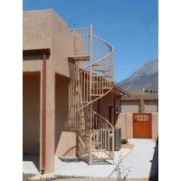 High quality prefabricated spiral staircase outdoor - Exterior metal spiral staircase cost ...