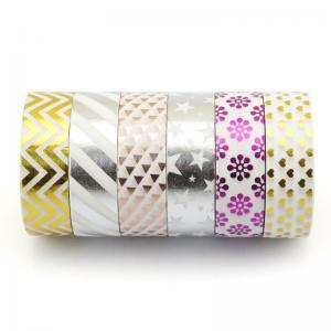Buy cheap bande bling multifonctionnelle de washi d'aluminium de bande washy de Noël, bande faite sur commande de washi d'aluminium from wholesalers