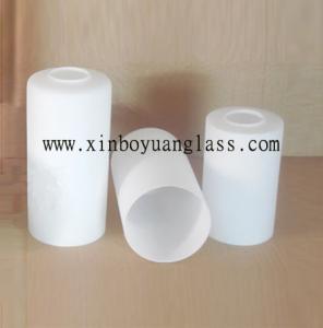Buy cheap ミルクの白いシリンダー ガラス ランプ カバー product