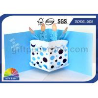 Buy cheap 3D Pop Up Birthday Cake Birthday Cards Greeting Cards Printing , Printable Greeting Cards product