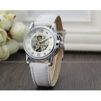Buy cheap White Winner Fashion Ladies Automatic Watch Skeleton , Three Hands Gift Watch product