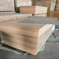 China 18mm Laminated MDF Board E2 Formaldehyde Emission Poplar Core For Furniture on sale