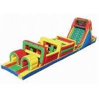 Buy cheap Playground Inflatable Obstacle Challenges , Blow Up Obstacle Course For Kids from wholesalers