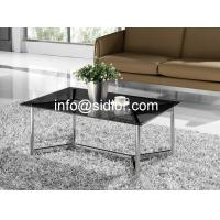 stainless steel glass top coffee table, tea table, center table, side table SD-5009