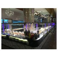 Quality L Shape Commercial Buffet Equipment Aluminum Composite Panel Cabinet Material for sale