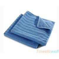 Buy cheap Wide Vertical Stripes Microfiber Cloth Streak Free, Durable, Scratch-Free, Super Absorbent product