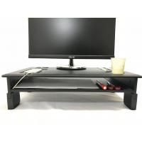 Buy cheap PVC Laminated Computer Monitor Stand Adjustable Heights With Storage Shelf product