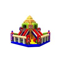 Buy cheap Fun Double High Dry Slide Inflatable Bunce Castle With PVC Material England from wholesalers