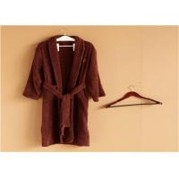 Buy cheap Hotel Kimono Collar Bathrobes Towel Soft Coral Velvet Dark Red Color product