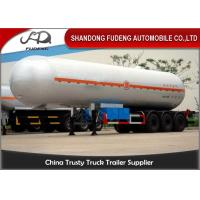 Buy cheap 56000L LPG Tank Semi Trailer , 3 Axles 25 Tons Butane Fuel Transfer Trailer  product