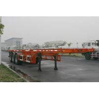 Buy cheap 40ft Skeletal Three Axles Steel Shipping Container Trailer Chassis ISO9001 CCC product
