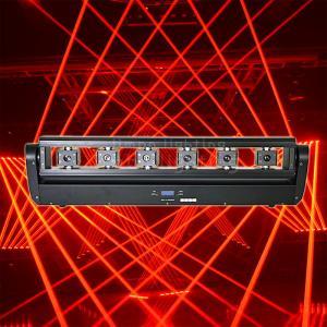 Buy cheap DJ Lighting 6 Eyes 500mw Red Beam Moving Head Laser Bar Lights product
