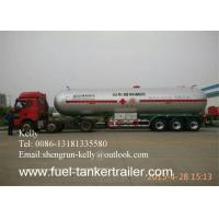 China Custom 3 Axle CNG LPG LNG tanker trailer with air spring suspension on sale
