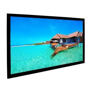 Buy cheap Custom 92 Inch Fixed Projector Screen For Digital Cinemas Aluminum Frame product