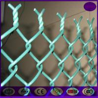 China China chain link fencing 50*50mm ,6 gauge plastic coating sports ground fence price on sale