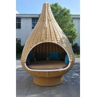 China Durable Discount Rattan Furniture 7PCS Rattan Hanging Chair / Daybed With Round Base wholesale