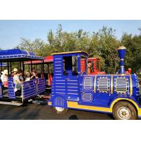 Buy cheap Outdoor Diesel Trackless Train Amusement Ride Vacuum Tyre For Large Scenic Area product