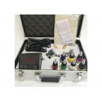 Buy cheap 7 Colors Ink 2 Machine Guns Permanent Makeup Tattoo Kit With Aluminum Box product