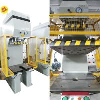Buy cheap Equipped Mitsubishi PLC C-Frame Hydraulic Press , Y41B Series 63tons For Shallow Drawing product
