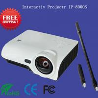 China Cheap price short focus interactive whiteboard projector with smart pens for kids on sale