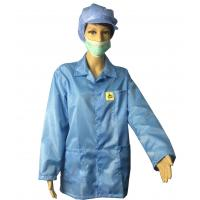 Buy cheap Static Dissipative ESD Jackets 2.5mm Grid White And Blue For EPA Clean Room from wholesalers