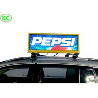 Buy cheap P4 Waterproof IP65 Video Car LED Sign Display , taxi roof led display product