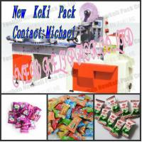 Buy cheap high speed automatic pillow type lollipop candy packing machine different shaped bag package product