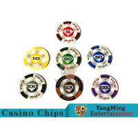 14 Gram Matte Sticker Custom Clay Poker Chips With 25pcs In A Shrink Roll